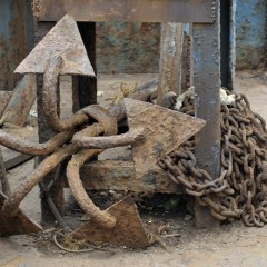 Anchor on Barge, Goa