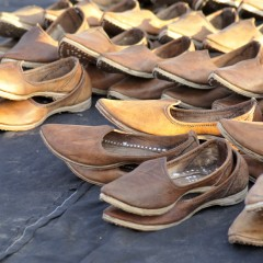 Shoes at Pushkar fair
