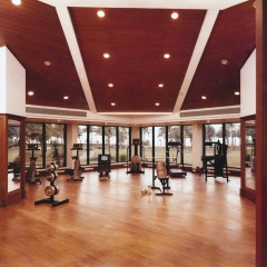 Gym at Leela Beach Resort, Goa