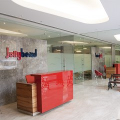 Jollyboard reception area, Mumbai