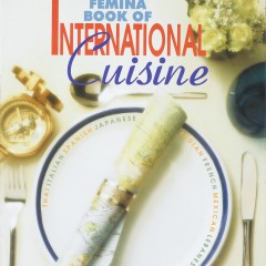 Cover of the cookbook that also contained many images of international cuisine shot by me